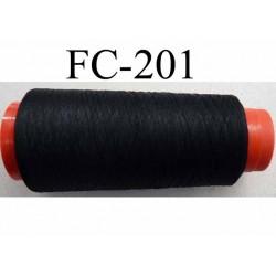 CONE de fil mousse polyamide fil n° 120 couleur noir  longueur de 2000 mètres fabriqué en France