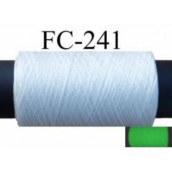 Bobine fil mousse polyester fil n°165 couleur blanc la journée et phosphorescent la nuit ou dans le noir 500 m bobiné en France