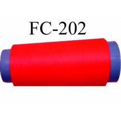 cone de fil mousse texturé polyester fil n°120 couleur rose orange fluo longueur du cone 2000 mètres bobiné en France