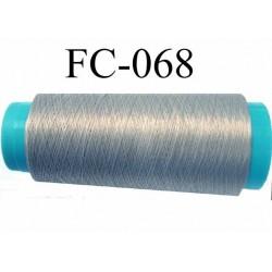 Cone de fil mousse polyamide fil n° 100 couleur gris longueur du cone 2000 mètres bobiné en France