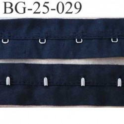ruban  galon bande agrafe couleur noir largeur 25 mm  100 % coton  souple  un mètre male et un mètre femèle