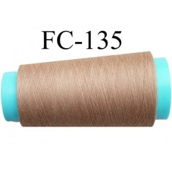 cone de fil polyester fil n°120 couleur marron clair longueur du cone 1000 mètres bobiné en France