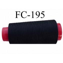 CONE de fil polyester fil n° 120 couleur noir  longueur de 2000 mètres bobiné en France