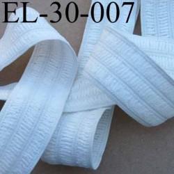 élastique plat fronceur largeur 30 mm couleur blanc souple et doux prix au mètre
