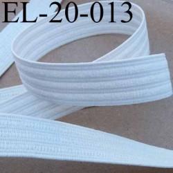 élastique plat fronceur ou à smock largeur 20 mm couleur blanc souple et doux prix au mètre