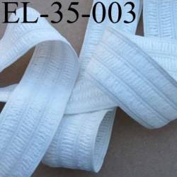 élastique plat fronceur ou à smock largeur 35 mm couleur blanc souple et doux prix au mètre