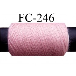 bobine de fil polyester n° 120 couleur rose longueur 500 mètres bobiné en France
