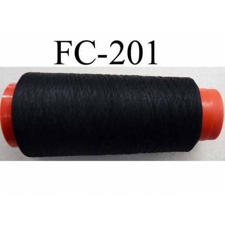 CONE de fil mousse polyamide fil n° 120 couleur noir  longueur de 5000 mètres bobiné en france