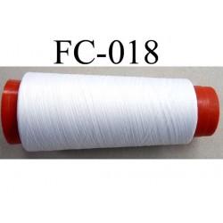 CONE de fil mousse polyamide fil n° 120 couleur blanc  longueur de 5000 mètres fabriqué en france