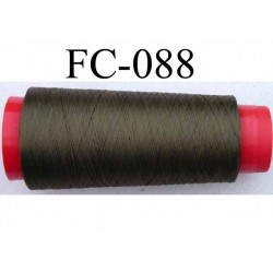 cone de fil mousse polyamide fil n°120 couleur vert kaki longueur du cone 5000 mètres bobiné en France