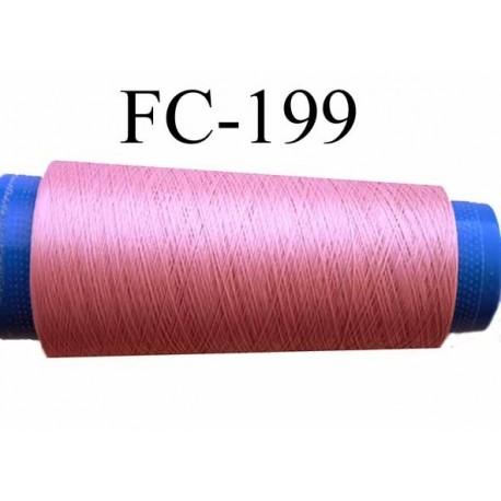 Cone de fil mousse polyamide fil n° 100 couleur rose camélia ou vieux rose longueur du cone 5000 mètres bobiné en France