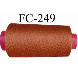 CONE de fil  Polyester tergal  fil n° 120/3  couleur rouille  longueur de 1000 mètres bobiné en France