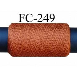 Bobine de fil  Polyester tergal  fil n° 120/3  couleur rouille  longueur de 200 mètres bobiné en France