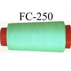CONE de fil mousse Polyester texturé fil n° 120 couleur vert  longueur de 1000 mètres bobiné en France
