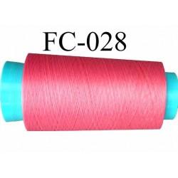 Cone de fil mousse polyamide fil n° 100 couleur rose  longueur du cone 1000 mètres bobiné en France