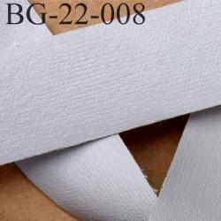biais galon ruban couleur gris façon cuir ou simili  souple et doux très joli largeur 22 mm prix au mètre