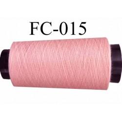 Cone de fil polyester fil n°120 couleur rose longueur du cone 5000 mètres bobiné en France