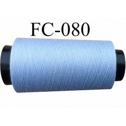 Cone de fil polyester fil n°120 couleur bleu longueur du cone 2000 mètres bobiné en France