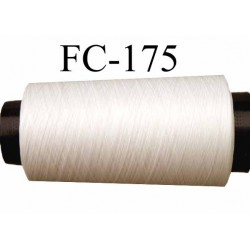 Cone de fil mousse polyamide fil n° 120 couleur naturel  longueur du cone 1000 mètres bobiné en France
