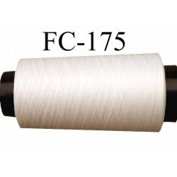 Cone de fil mousse polyamide fil n° 120 couleur naturel  longueur du cone 2000 mètres bobiné en France