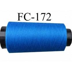 Cone de fil polyester fil n° 120 couleur bleu  longueur du cone 5000 mètres bobiné en France