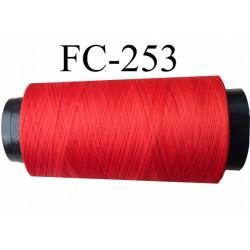 Cone de fil mousse texturé polyester fil n° 165 couleur rouge longueur 5000  mètres bobiné en France