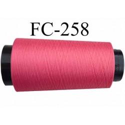 Cone de fil mousse texturé polyester fil n° 160 couleur rose framboise longueur 1000 mètres bobiné en France