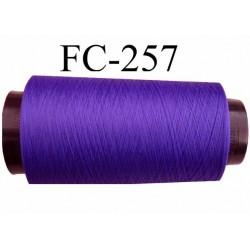 Cone de fil mousse texturé polyester fil n° 160 couleur violet longueur 1000 mètres bobiné en France