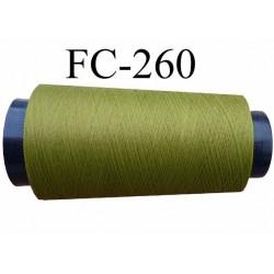 Cone de fil mousse texturé polyester fil n° 120 couleur vert longueur 1000 mètres bobiné en France
