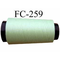 Cone de fil mousse texturé polyester fil n° 160 couleur vert longueur 1000 mètres bobiné en France