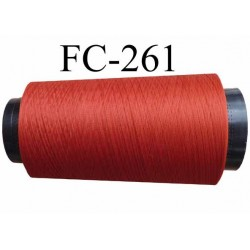 Cone de fil mousse texturé polyester fil n° 160 couleur rouille  longueur 1000 mètres bobiné en France