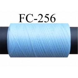 Bobine de fil mousse texturé polyester fil n° 160 couleur bleu  longueur 200 mètres bobiné en France