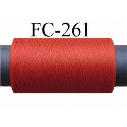 Bobine de fil mousse texturé polyester fil n° 160 couleur rouille  longueur 500 mètres bobiné en France