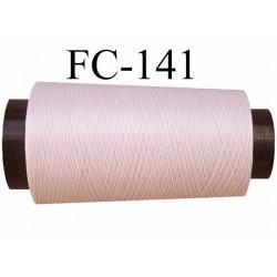 Cone de fil mousse polyamide fil n° 100 couleur rose pétale  longueur du cone 1000 mètres bobiné en  France