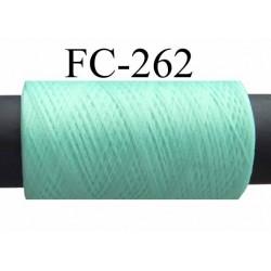 Bobine  de fil mousse texturé polyester fil n° 150 couleur vert lagon longueur 500 mètres bobiné en France