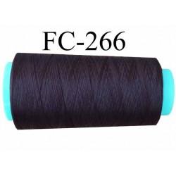 Cone de fil mousse polyester texturé fil n°120 couleur marron foncé longueur du cone 1000 mètres bobiné en France