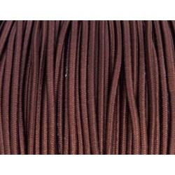 élastique cordon très belle qualité et très résistant couleur marron largeur 2,5 mm prix au mètre