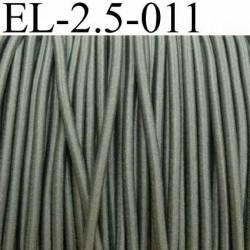élastique cordon très belle qualité et très résistant couleur vert kaki largeur 2,5 mm prix au mètre