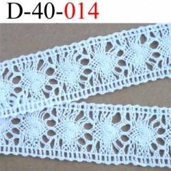 dentelle crochet ancienne en coton largeur 40 mm couleur blanc provient d'une vieille mercerie parisienne vendue au mètre