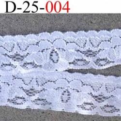 dentelle 25 mm couleur blanc synthétique lycra élastique largeur 25 mm vendu au mètre