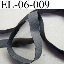 Elastique caoutchouc laminette naturel largeur 6 mm x 0.5 mm   résistantes couleur gris noir au mètre