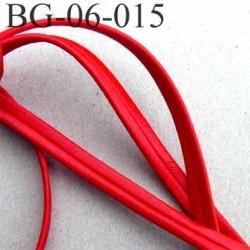 galon magnifique superbe largeur 6 mm couleur rouge satiné doux au touché style façon cuir prix au mètre