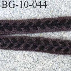 biais  galon ruban couleur blanc style épis  de blé marron  superbe souple et doux largeur 10 mm prix au mètre