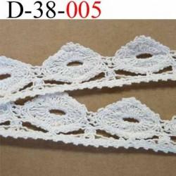 dentelle crochet ancienne 100 % coton largeur 38 mm couleur écru provient d'une vieille mercerie parisienne prix  au mètre