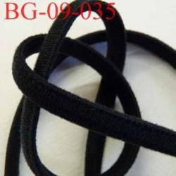 galon biais façon mousse très doux et très solide superbe souple largeur 9 mm  couleur noir  épaisseur 4 mm prix au mètre