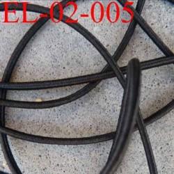élastique cordon très belle qualité et très résistant couleur noir largeur 2 mm prix au mètre