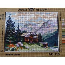 canevas 30X40 marque ROYAL PARIS thème hautes cîmes dimennsion 30 centimètres par 40 centimètres 100 % coton