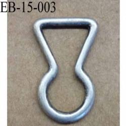 etrier style serrure plate en métal façon etain ancien largeur 1.5 cm intérieur hauteur 2.3 cm idéal pour une sangle de 10 mm
