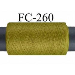 Bobine de fil mousse texturé polyester fil n° 120 couleur vert longueur 500 mètres bobiné en France