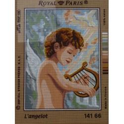 canevas 30X40 marque ROYAL PARIS thème l'angelot dimennsion 30 centimètres par 40 centimètres 100 % coton